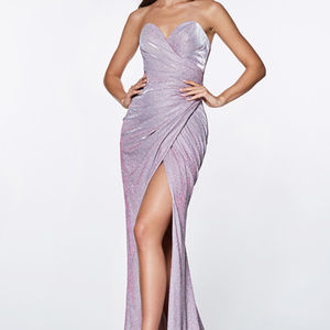 Lilac Sleeveless Bridesmaid Long Dress